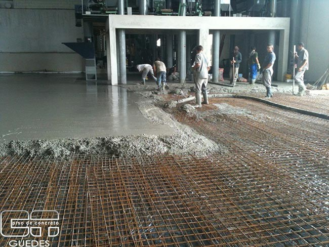 Concreto usinado para piso industrial